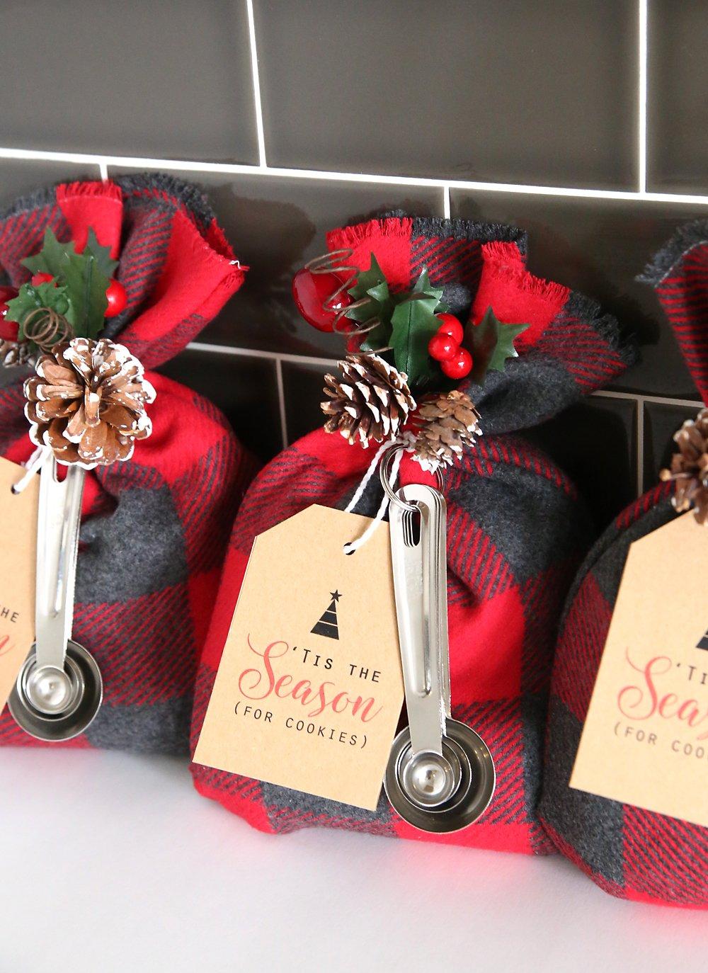 Cookie Mix Gift Bags Sack Easy Cheap Diy Handmade Christmas