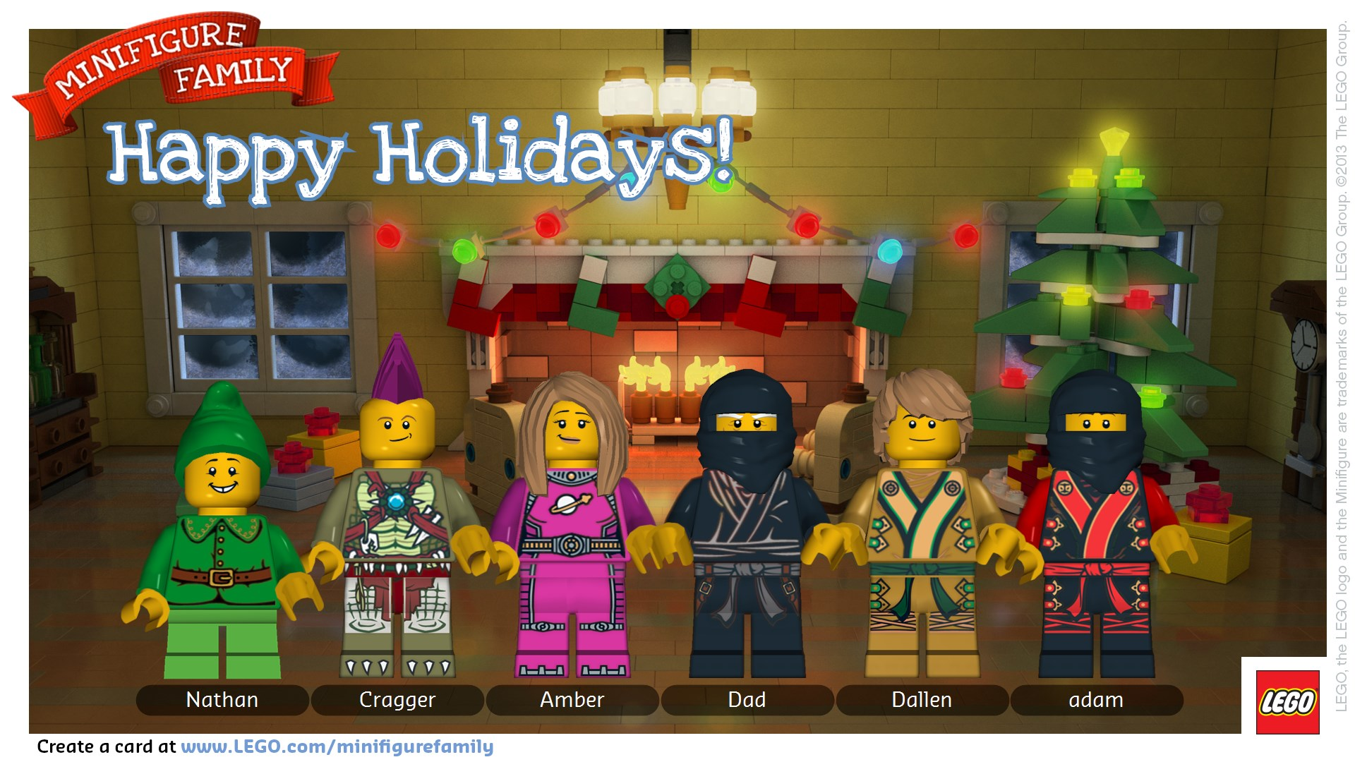 Merry Christmas From Our Lego Minifigure Family