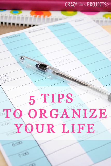 5 Tips to Organize Your Life and Free Printable Planner Pages