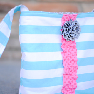Cute Cross Body Tote Bag Tutorial