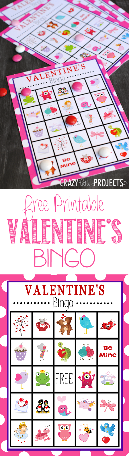 Free Printable Valentine's Day Bingo Game for Valentine's Parties