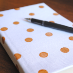 DIY Gold Polka Dot Journal