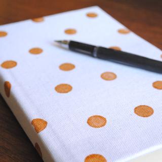 DIY Gold Polka Dot Journal