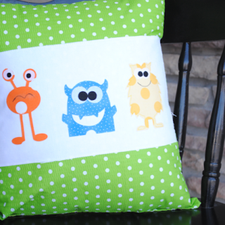 How to Applique & Throw Pillow Project