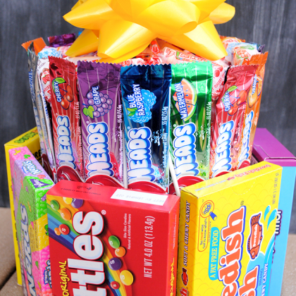 Candy Cake Birthday Gift Idea