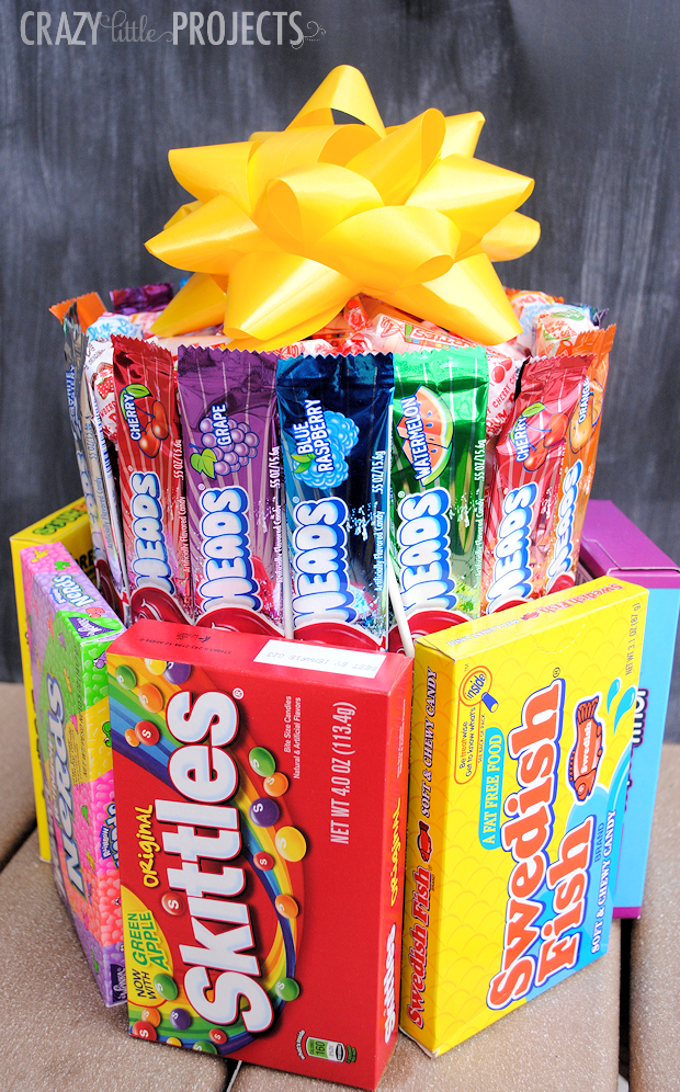 25 fun birthday gifts ideas for friends crazy little projects how to make a candy birthday cake negle Image collections