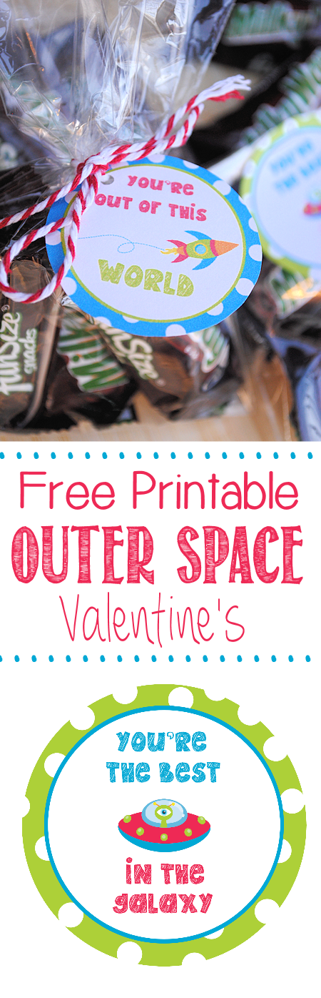 Free Printable Outer Space Valentines to aadd to a Milky Way Bar