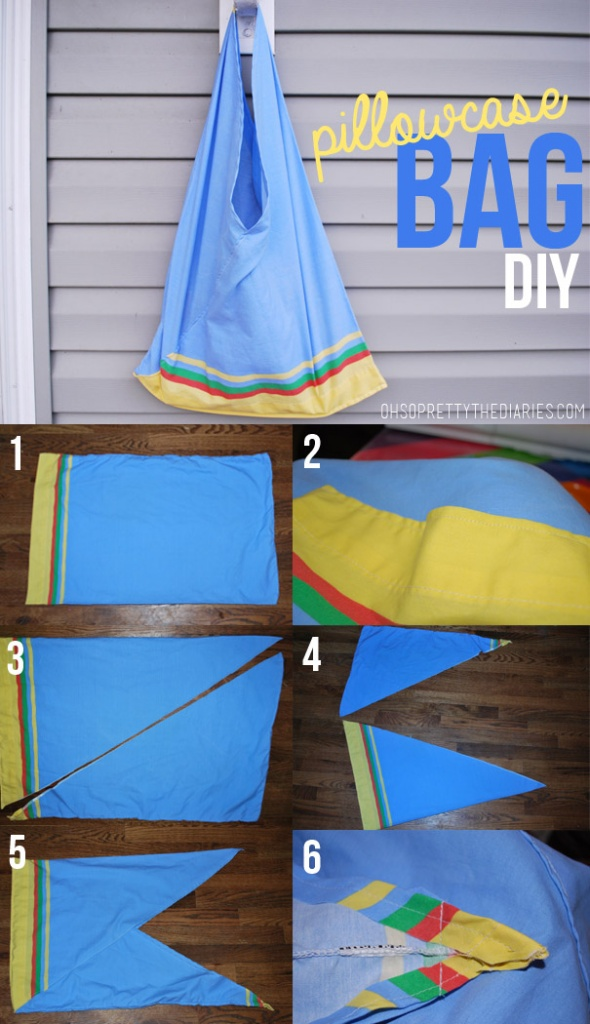 Pillowcase Bag DIY