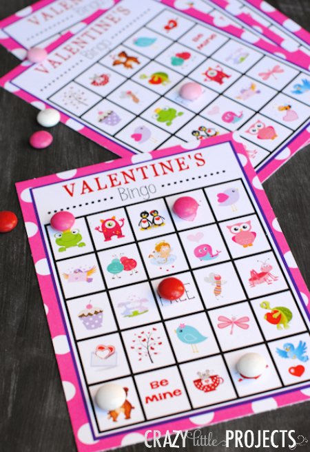 Free Printable Valentines Day Bingo Game Crazy Little Projects – Valentine Bingo Card