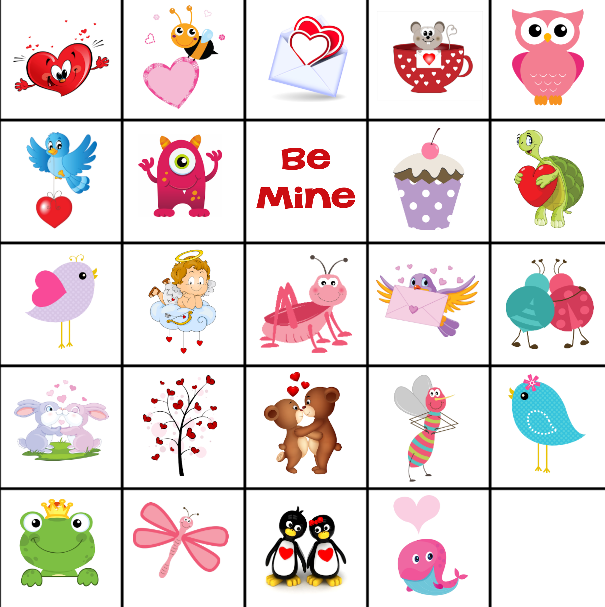graphic regarding Printable Valentine Bingo Cards named No cost Printable Valentine Memory Match