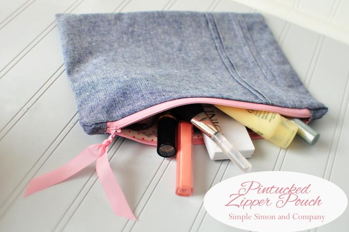 pintuck zipper pouch--simplesimonandcompany