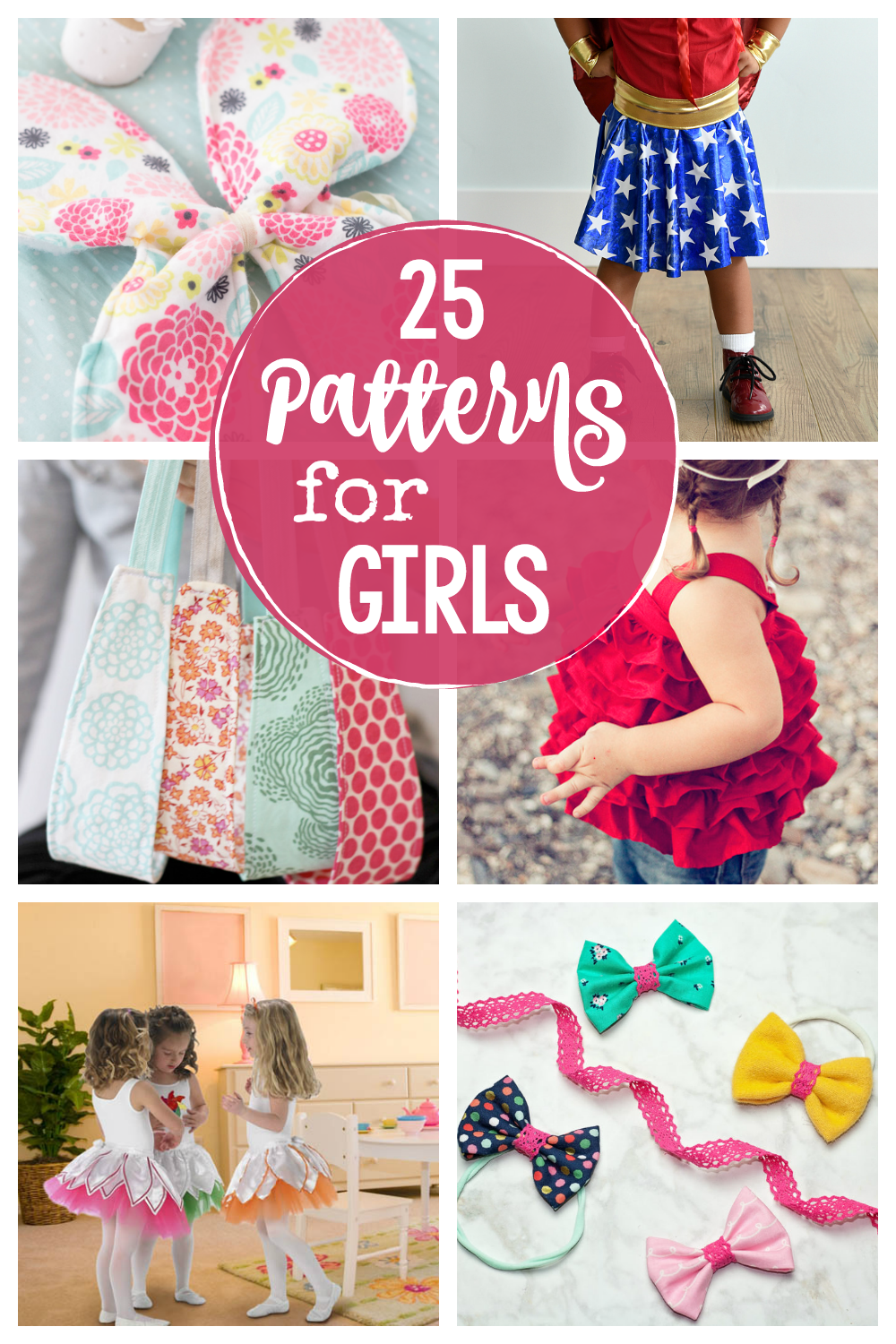 25 Patterns for Girls-Cute things to sew for little girls from dresses to toys and bags and accessories and more. So many fun patterns for girls. #sew #patterns #crafts