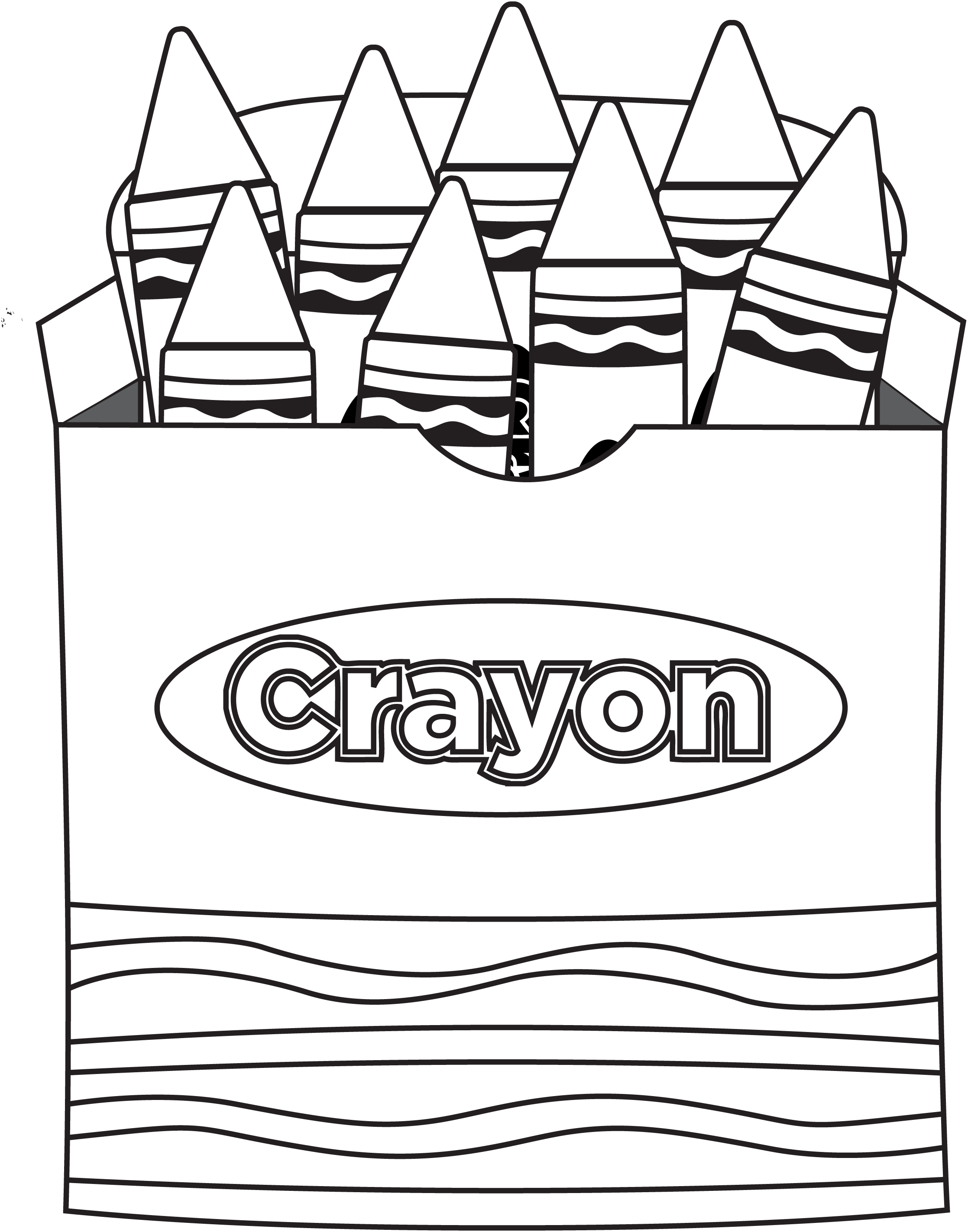 Color Crayons Coloring Pages Crayon Coloring Page