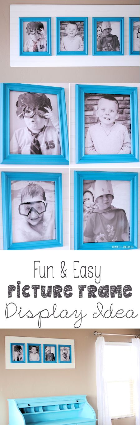 Easy and Beautiful Way to Display Family Pictures