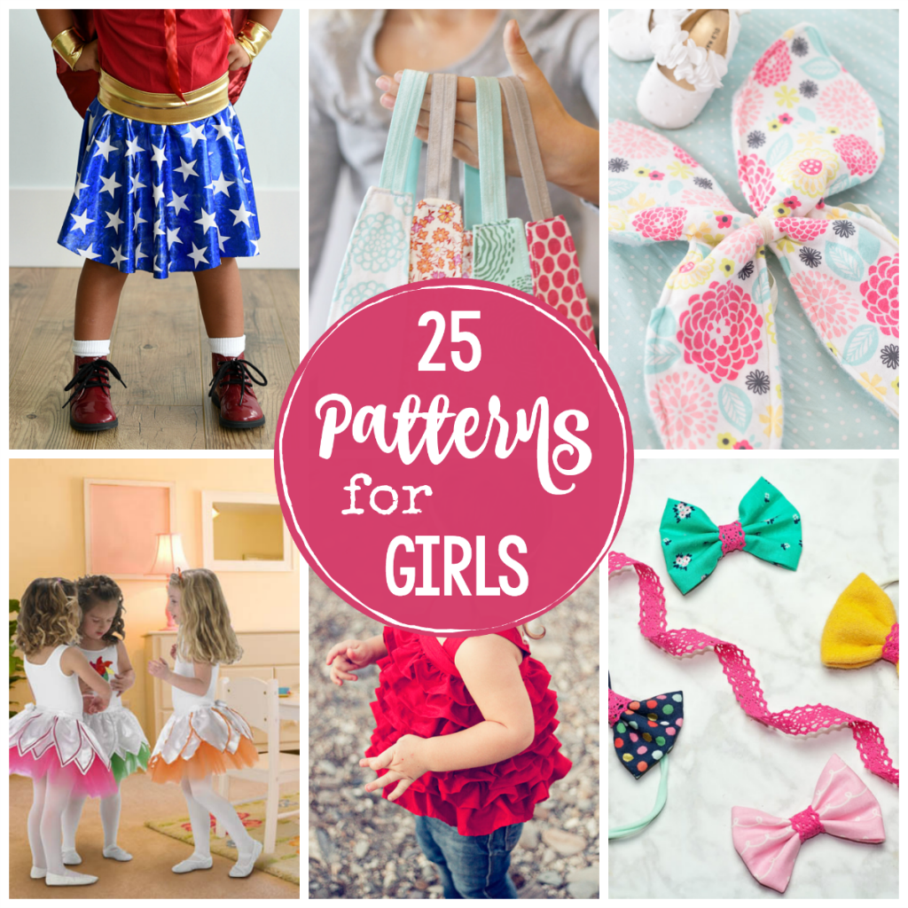 25 of the cutest patterns for girls crazy little projects. Black Bedroom Furniture Sets. Home Design Ideas