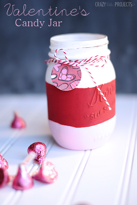 Easy Valentine's Candy Jar