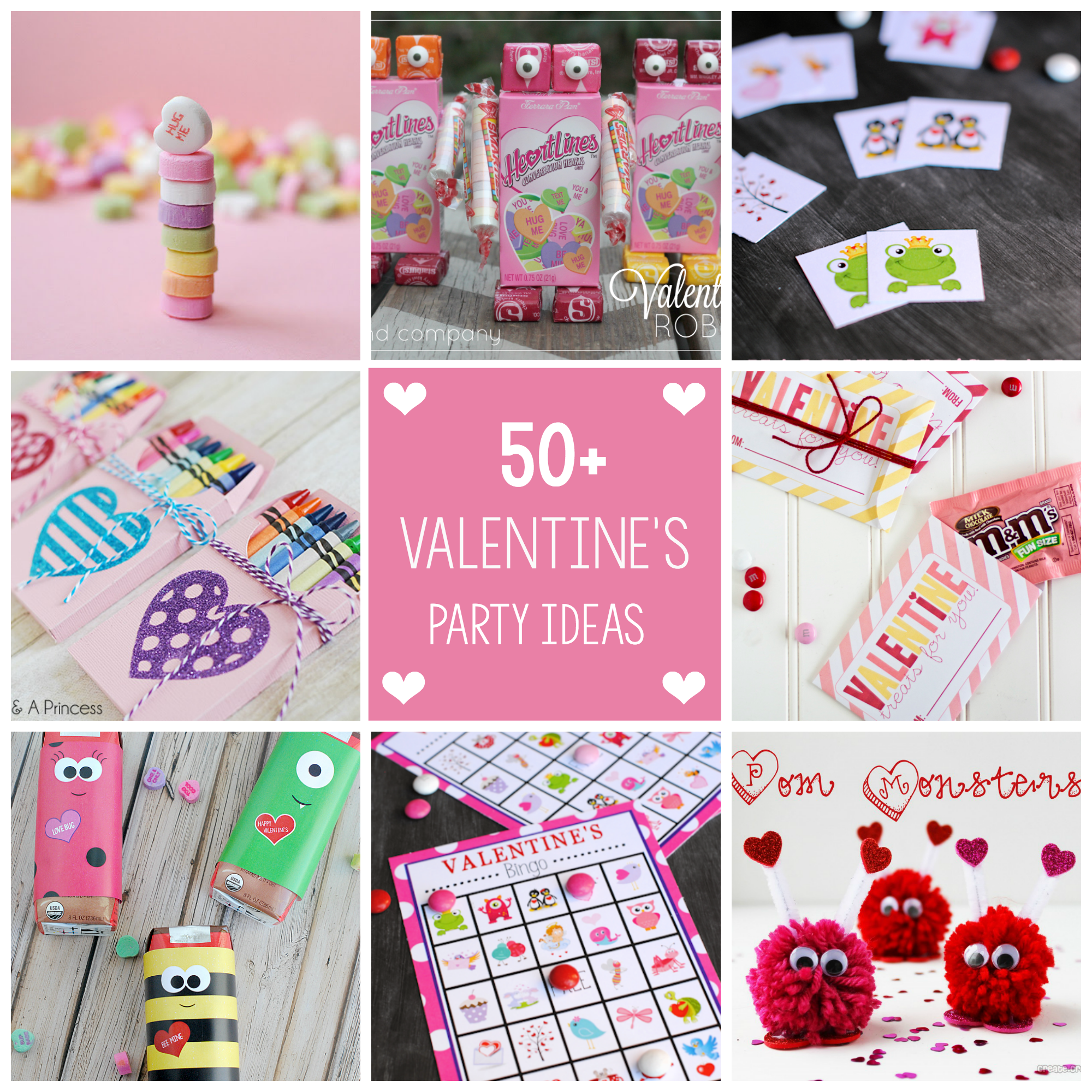 50 Fun Valentine's Day Party Ideas-Treats-Crafts, Games