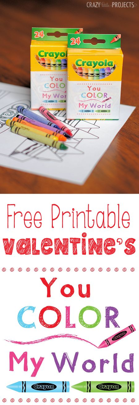 You Color My World Free Printable Valentine's Idea