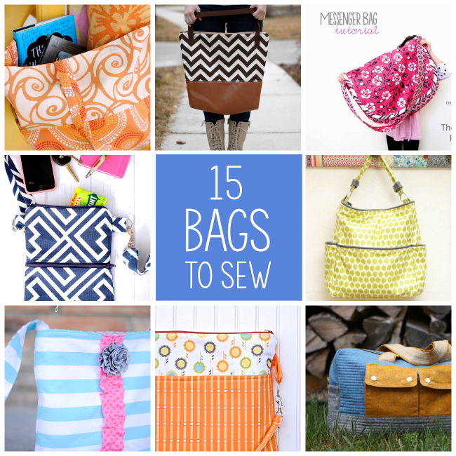 15 More Bags To Sew Crazy Little Projects