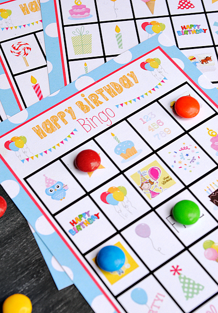 photo regarding Printable Bingo Game Patterns named Lovable Absolutely free Printable Birthday Bingo Activity - Outrageous Minor Tasks