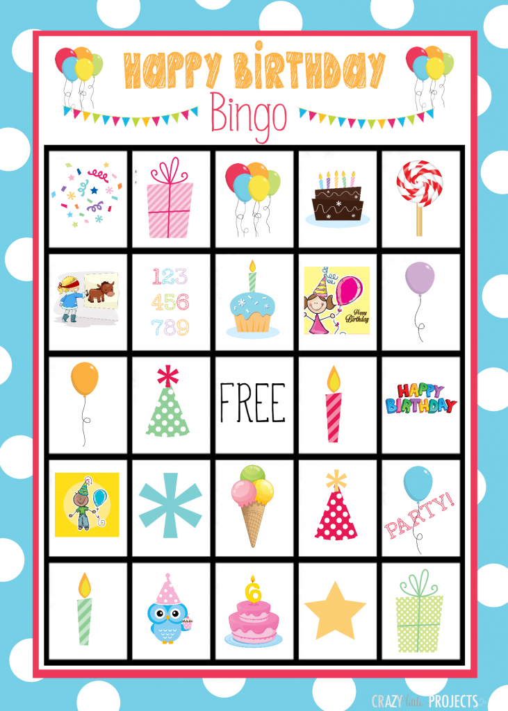 Birthday bingo cards crazy little projects solutioingenieria Images