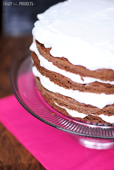 Chocolate and Cream Layer Cake-easy and tastes amazing!