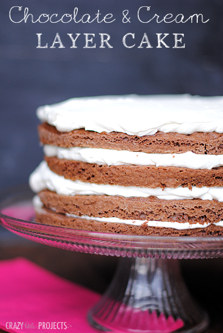 Chocolate and Cream Layer Cake Recipe-impress your guests!