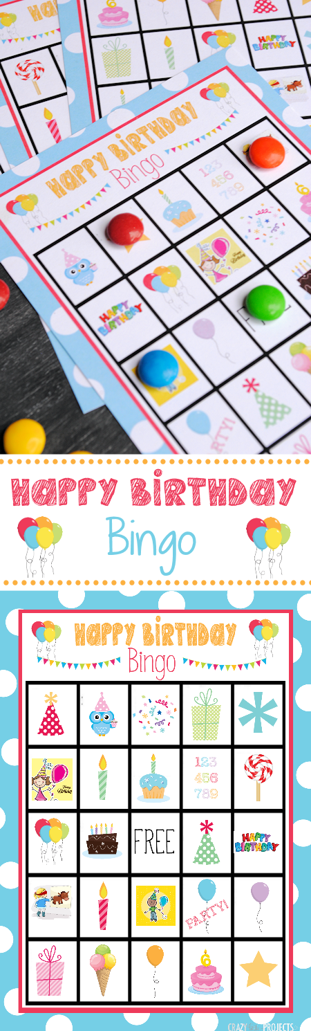Free Printable Birthday Bingo Game