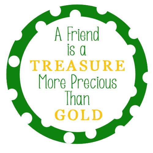 A Friend is a Treasure Free Printable Tag for St. Patrick's Day