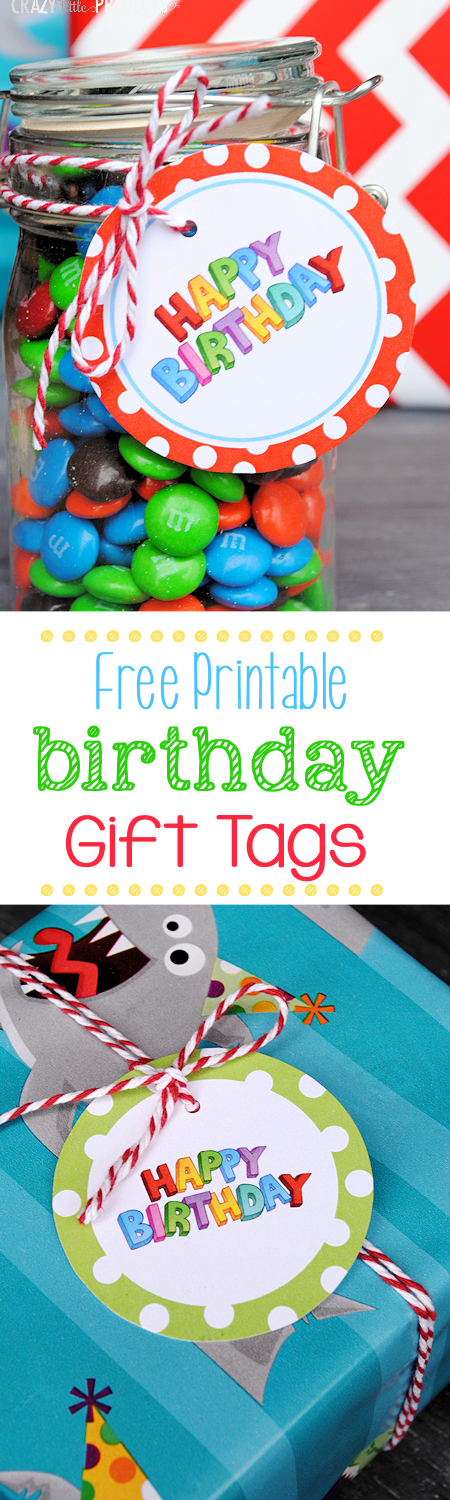 Free Printable Birthday Gift Tags in a Bunch of Designs!