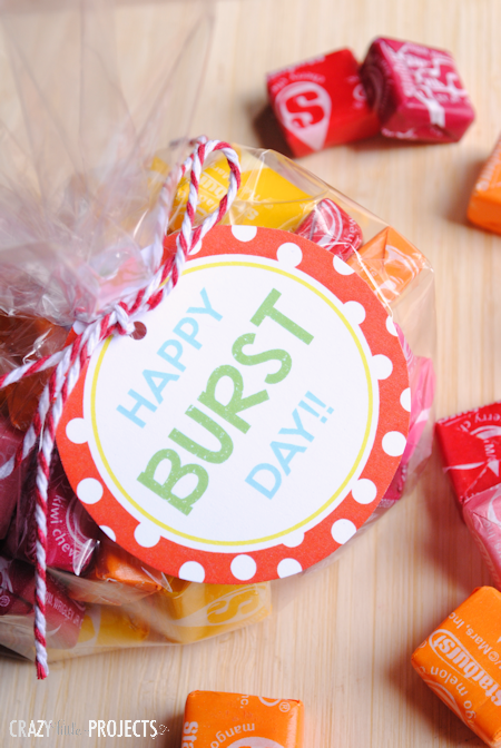 Quick easy birthday gift starburst tags crazy little for Quick easy gift ideas