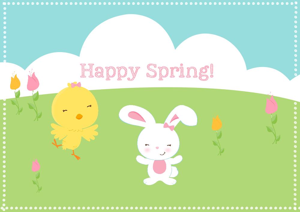 Happy Spring Tag
