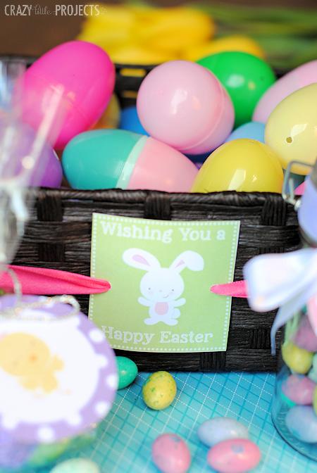 Cute Free Printable Easter Basket Tag