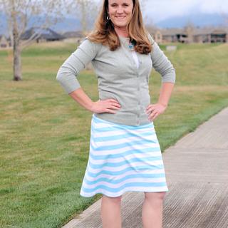 Knee Length Knit Skirt Tutorial
