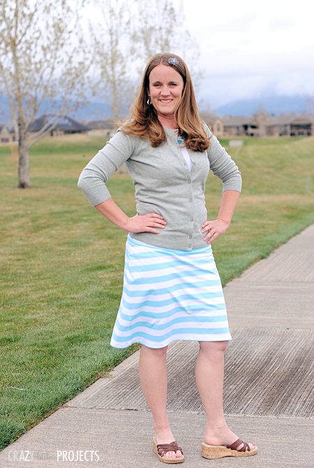 Knee Lengt Knit Skirt Tutorial