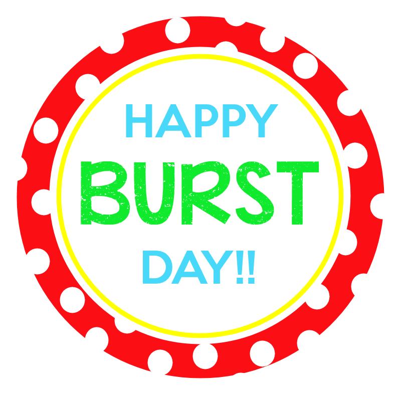 Starburst Birthday Gift Tag