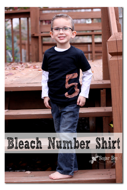 bleach number shirt tutorial