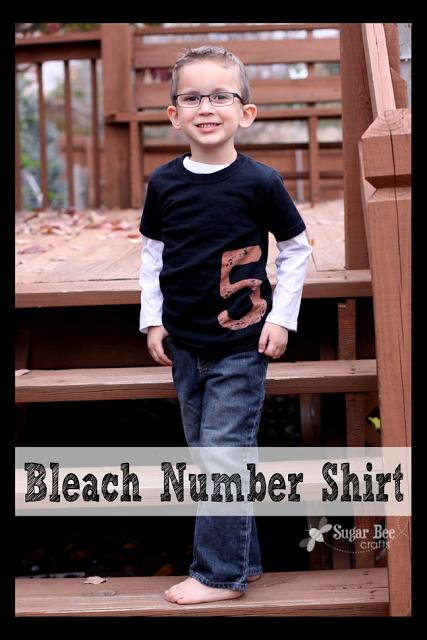 bleach number shirt tutorial