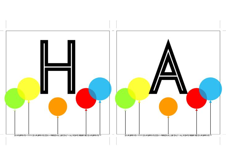 primary color birthday banner