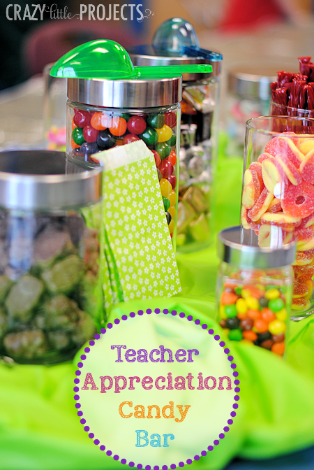 "Teacher Appreciation ""Candy Bar"" Idea"