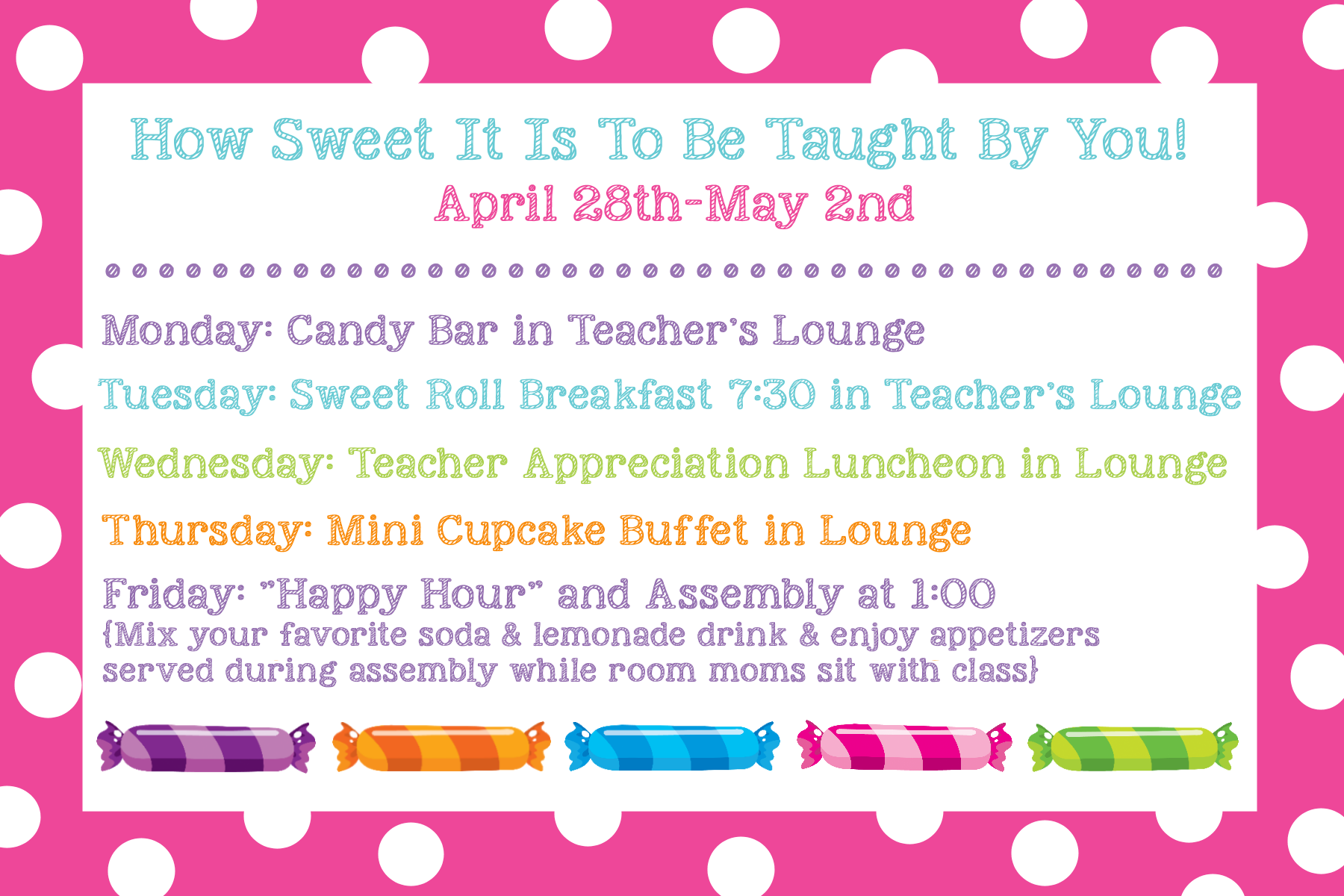 Classroom Ideas For Teacher Appreciation Week ~ Teacher appreciation ideas gifts doors themes more