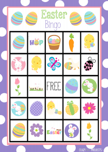 Easter Bingo Game Boards