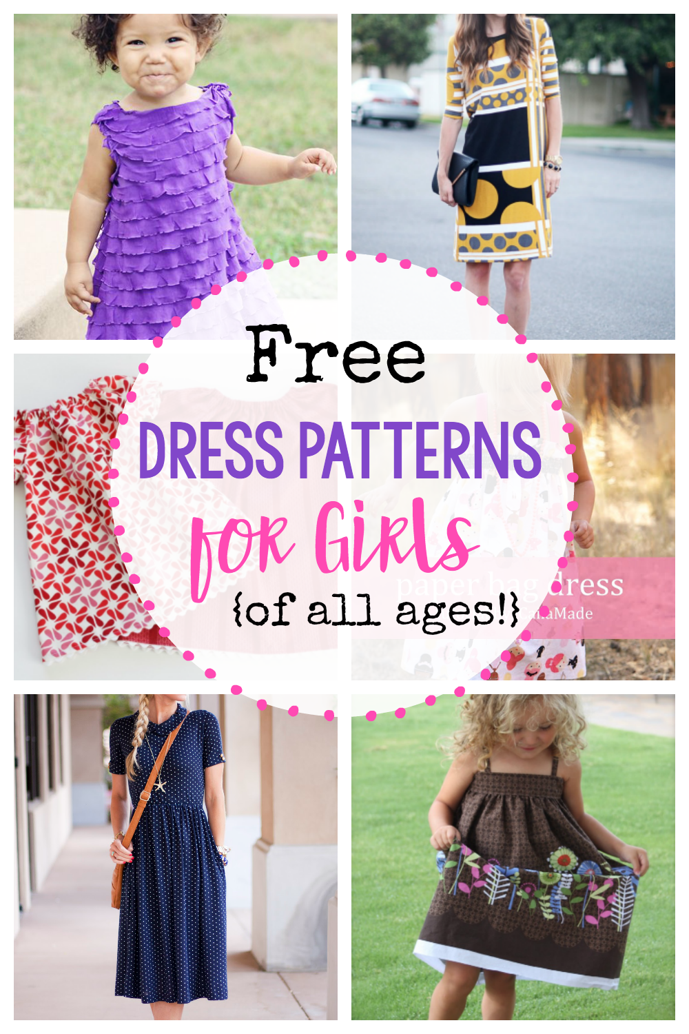 c74bba645 25 Free Dress Patterns for Girls  of all ages!  - Crazy Little Projects