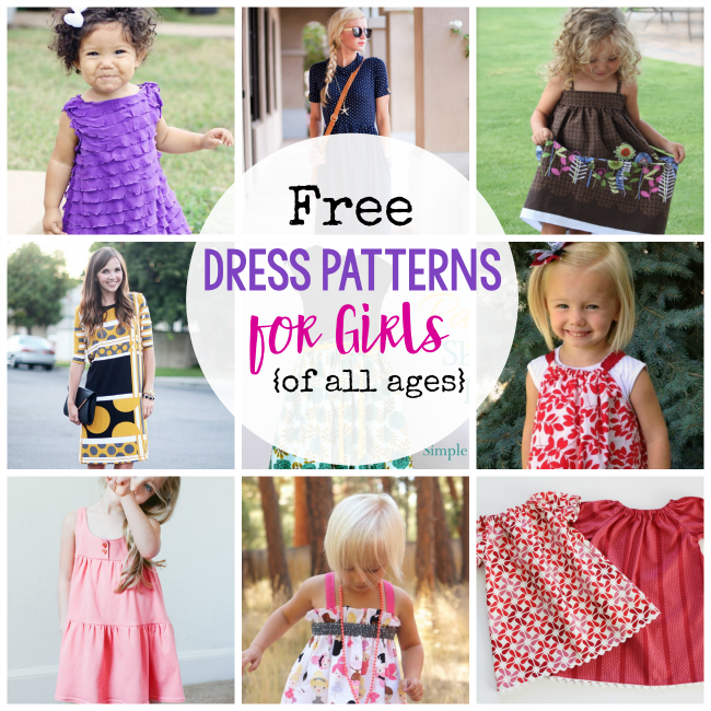 9d04728a79 25 Free Dress Patterns for Girls {of all ages!} - Crazy Little Projects