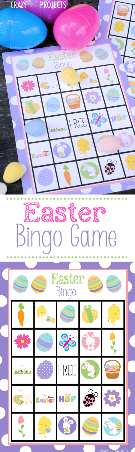 Easter Bingo Game - Crazy Little Projects