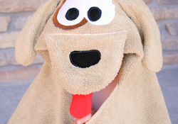 Puppy Dog Hooded Towel by Crazy Little Projects