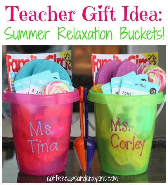 Teacher appreciation ideas gifts doors themes more crazy teacher gift idea summer relaxation bucket negle Image collections