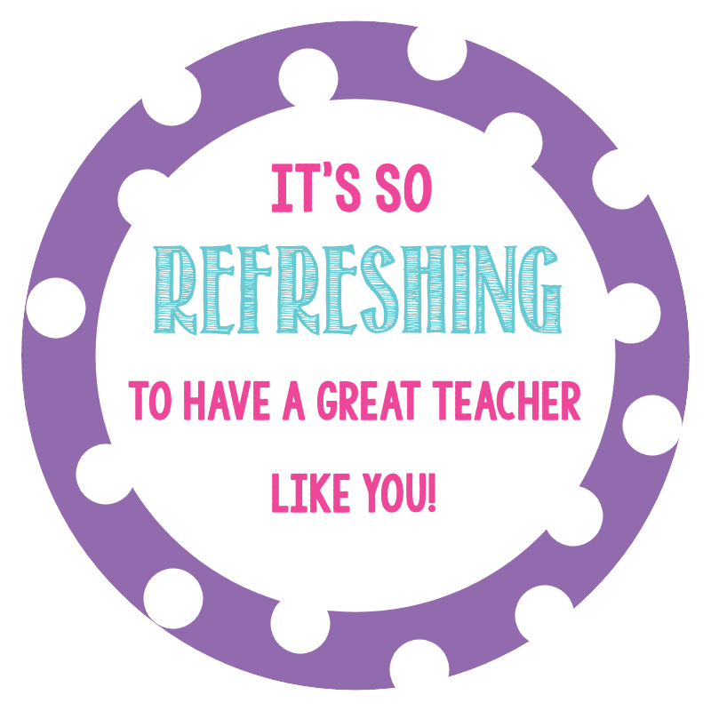 Printable Teacher Appreciation Tag