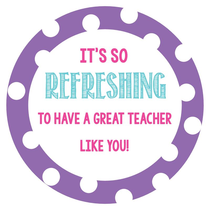 Printable Teacher Appreciation Tag