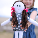 Make an easy cloth doll from this free sewing pattern